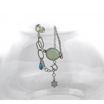 Bransoletka srebrna z kamieniami