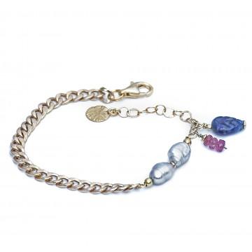 Bransoletka z szarymi perłami